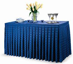 poly stripe table skirts are very impressive radiant table skirts that will lend an air of upscale elegance to any setting very popular with party al