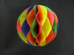 paper crafts how to make a paper honeycomb ball