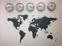 wall clocks for office. Www.vinylimpression.co.uk Why Not Mix Our Map With Some Clocks To Show  Different Time Zone That Reflect Your Business. #decals And #graphics Wall For Office