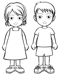 Small Picture Kids Boy And Girls Coloring Pages For Kids c8y Printable Kids
