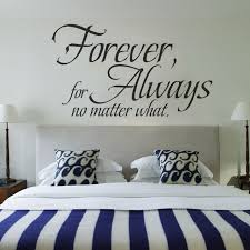 Love Wall Quote Forever For Always No Matter What Wedding Decoration Interesting Love Wall Quotes