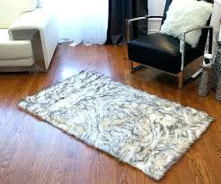 black faux sheepskin rug area round fur