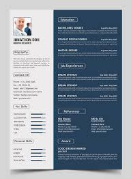 Resume Template Photoshop New 15 Free Elegant Modern Cv Resume