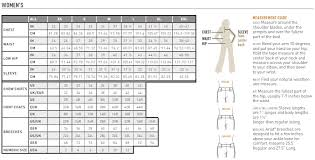 Ladies Clothes Conversion Chart Ariat Womens Apparel Shirt And Outerwear Size Chart