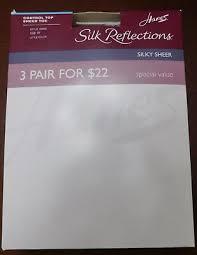 Hanes Hosiery Color Chart 2 Hanes Silk Reflection Noncontrol Top Sheer Pantyhose