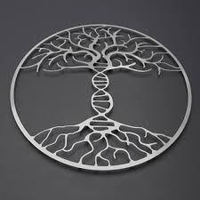 dna tree of life metal wall art metal tree wall art double helix molecule art modern wall decor large metal wall art scientist gift