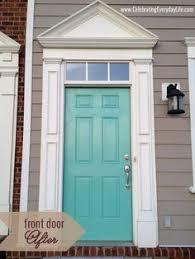 turquoise front doorTurquoise Front Door  Beyond the Screen Door Benjamin Moore 2038