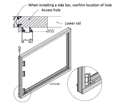 assemble side bars the top and the bottom cover together check the direction of hinge and the position of inspection hole