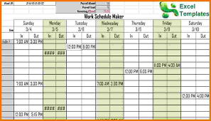 work schedule creator 2 free work schedule maker itinerary template sample