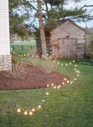 Diy outdoor wedding lighting Patio Light Inspiring Ideas For Your Dream Backyard Wedding Elegant Wedding Invites 30 Sweet Ideas For Intimate Backyard Outdoor Weddings