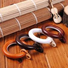 rod rings wood curtain hook silencer track wooden 3 inch