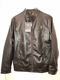 new emporio co synthetic leather ferrari jacket small for in orange ca offerup