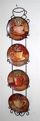 decor kitchen kitchen: coffee theme kitchen clocks coffee house bistro cafe wall plate rack set