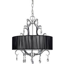 crawford 4 bulb drum shade chandelier