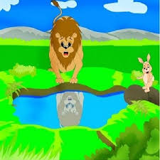 the lion and rabbit short story moral for kids