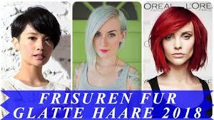 Die Sch Nsten Kurzhaarfrisuren Fur Glattes Haar 2018 Youtube