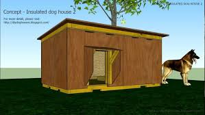 concept insulated dog house you slanted roof plans