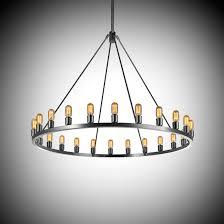 light bulb chandelier in oil rubbed finish for home lighting ideas