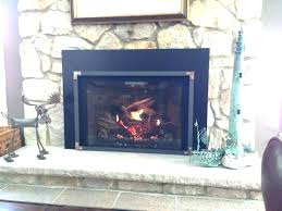fireplace glass doors cleaning gas replacement open or closed door inside small fireplace glass doors