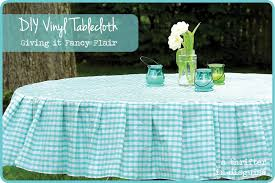 wondering how the tablecloth was received the true test husband when he came home from work yesterday i asked did you see the tablecloths on the round