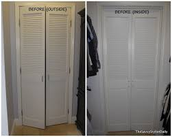 remodelaholic diy mirrored closet door makeover intended for louvered doors remodel 24