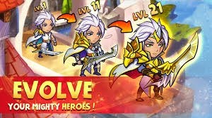 lots of ways to power up heroes level up them bind them with others turn them into gold ones