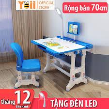 Bộ bàn ghế học sinh trẻ em thông minh chống gù chống cận kích thước lớn B02  50 x 70cm - Tặng kèm đèn LED 3 chế độ chính hãng 1,375,000đ