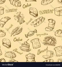 Hand Drawn Bakery Royalty Free Vector Image Vectorstock