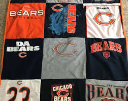 Chicago bears quilt | Etsy & Chicago Bears T-shirt quilt Adamdwight.com