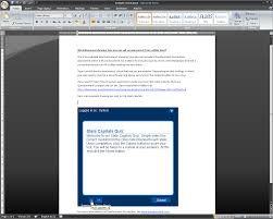 microsoft word assessment embedding assessments in microsoft word getting results the