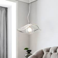 light hanging lamp over dining table