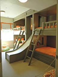 cool kids beds with slide. Fine Kids Green And Orange Bunk Bed With Slide  Cool Bunk Beds You Wish Had As To Kids With Slide C