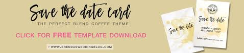 the perfect blend save the date card free wedding invitation Wedding Invitations Programs Free Download download the free save the date card template for the perfect blend coffee theme as wedding invitation software free download