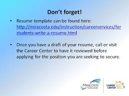 Writing Your Resume Julie Essman Student Employment Specialist New Employment Specialist Resume