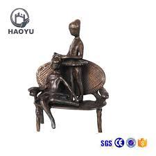 Оптовая продажа реферат скульптура Купить лучшие реферат  Винтажный дизайн металлическое ремесло абстрактная Малый Бронзовый детей играющих скульптур
