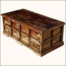 wonderful treasure chest coffee table solid rustic reclaimed wood storage trunk coffee table