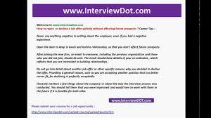 Politely Turning Down A Job Offer how to reject or decline a job offer politely without affecting 1