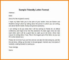 Friendly Letter Format 8 Example Of Friendly Letter Format Penn Working Papers