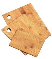 kitchen cutting boards 3 piece set wood bamboo small large big serving chopping