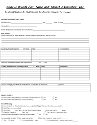 015 Health History Form Patient Online Family Medical