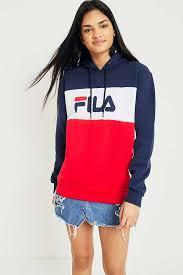 fila hoodie. slide view: 1: fila cara colour-block logo hoodie fila