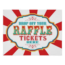 Carnival Or Circus Raffle Ticket Sign Raffle Tickets Carnival And