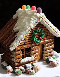creative graham cracker gingerbread house.  Creative LOVE THIS Idea Instead Of Graham Cracker Christmas Houses At School FROM  WORTH PINNING Decorated Pretzel Cabins For Creative Gingerbread House 2