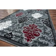 black and red rug royal contemporary medallion area rug grey white black red style ter rug