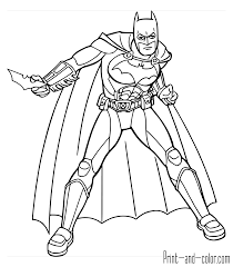 Great Batman Coloring Pages To Print In Line Drawings Superhero