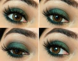 makeup for green dress