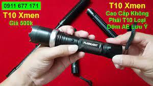 Chích điện, roi điện, đèn pin tự vệ t10 Xmen cao cấp - YouTube