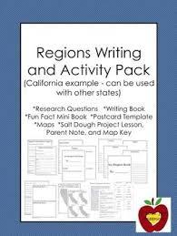 California Regions California Regions Research Writing Activity Pack