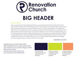 Branding Quotes Awesome Renovation Church Branding On Behance