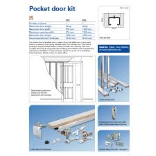 single pocket sliding door kit maximum door width 915mm information